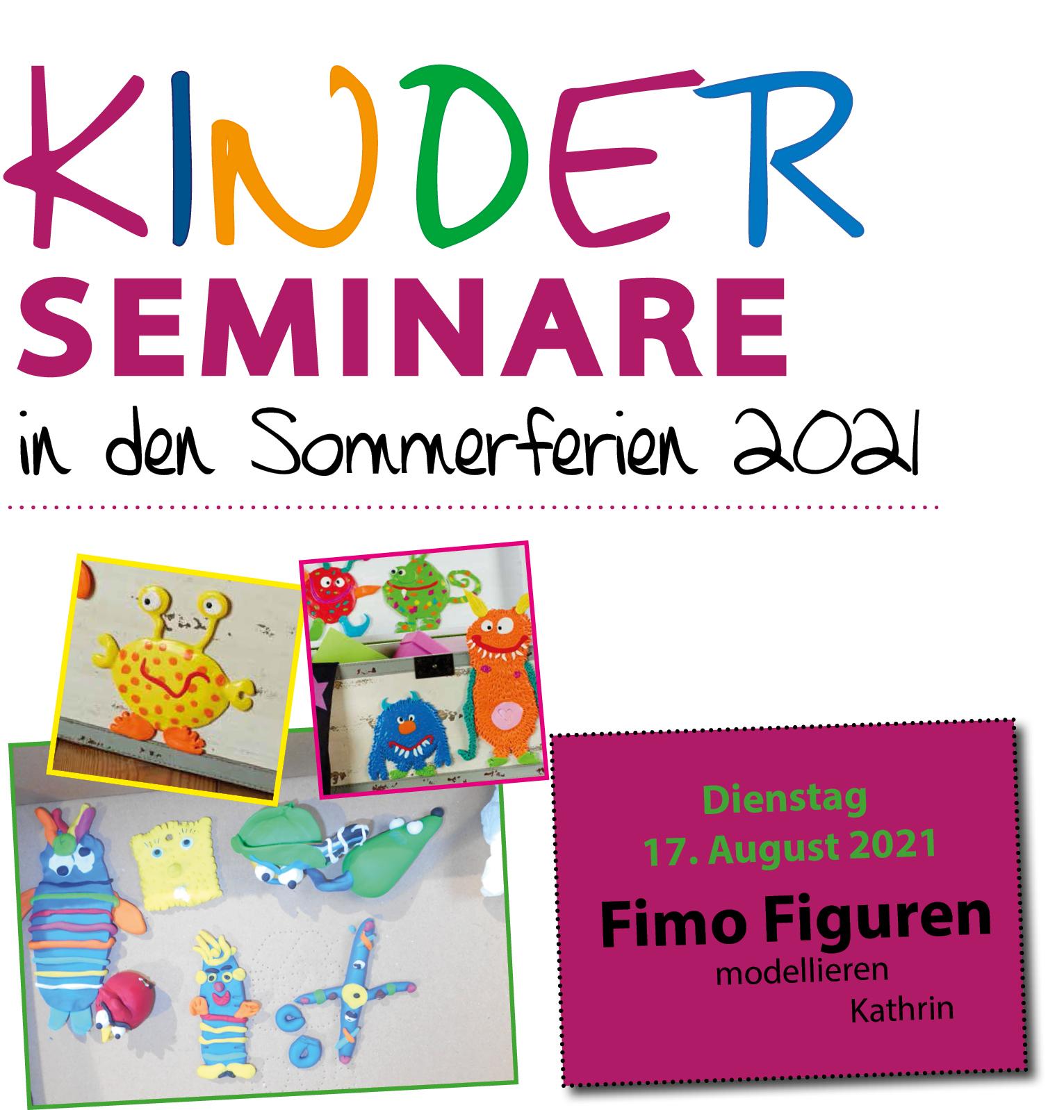 Kinderseminar Figuren aus Fimo