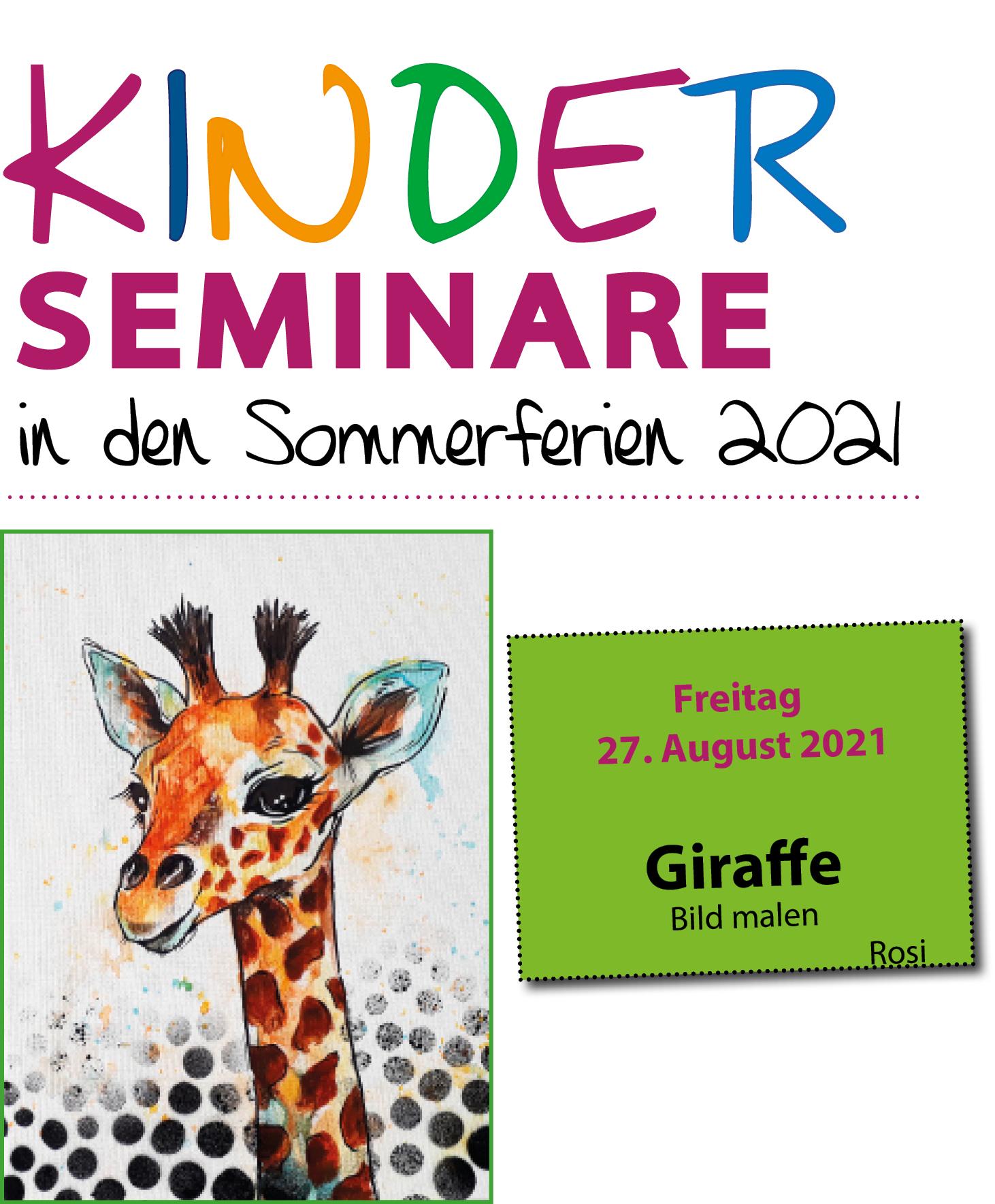 Kinderseminar Giraffenbild