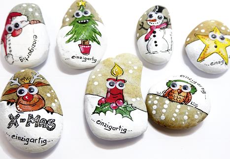 Workshop Weihnachtliche Steine